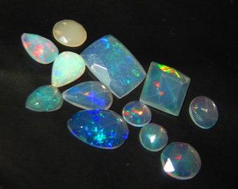 5 100/% Natural 10 Pcs Ethiopian Opal Jumbo Fire 6x4 mm Cabochon In Loose Gems