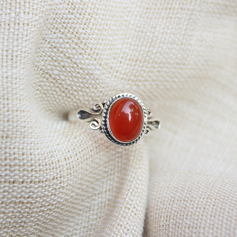 Stack Rings Gift For Her Dainty Ring Affordable Jewelry Gemstones Jewelry Birthday Gift Solid Silver Ring Onyx Jewelry Red Onyx ring