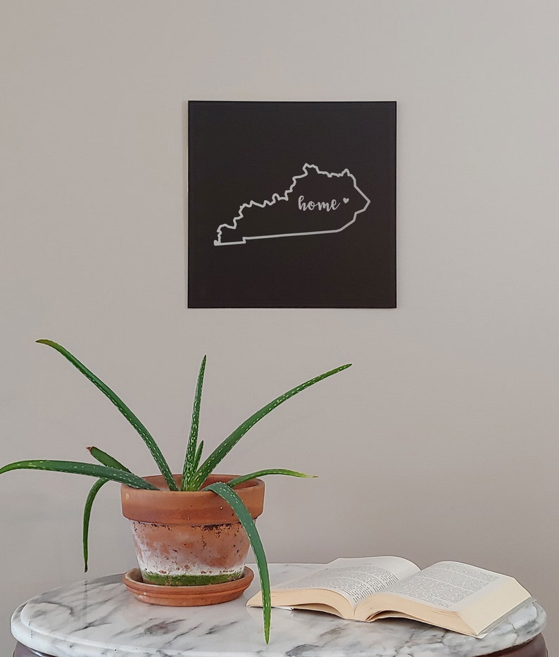Kentucky Home State Map Wall Art Office Decor Gift Engraved KY