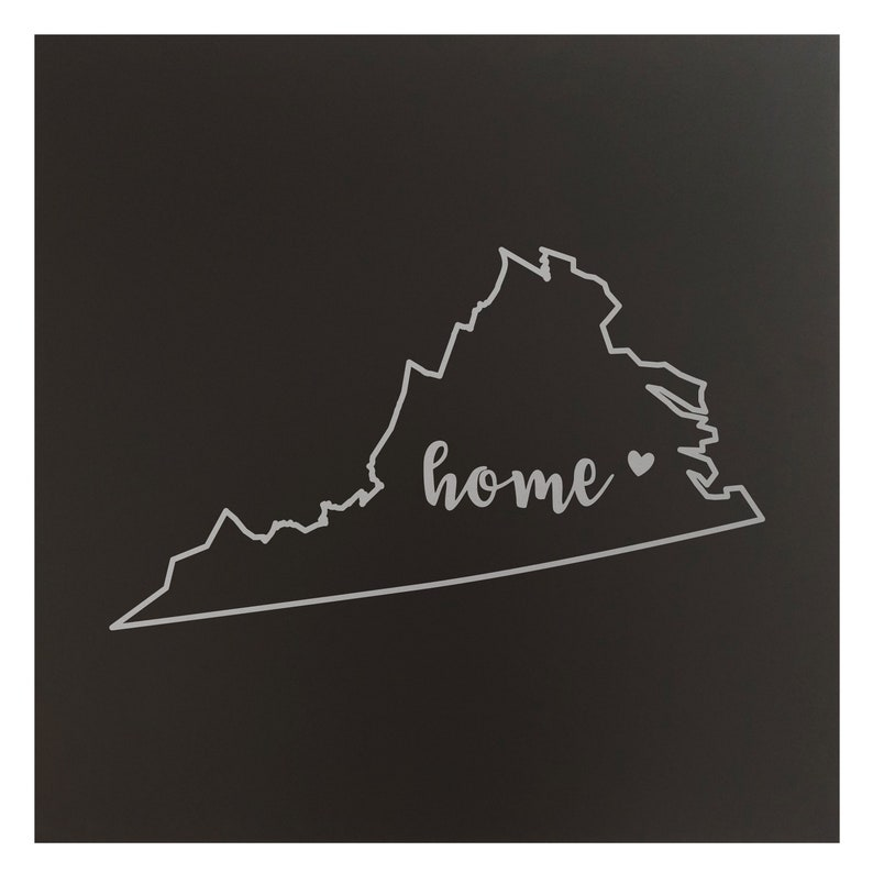 Virginia Home State Map Wall Art Office Decor Gift Engraved VA