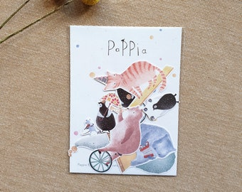 Sticker Set, Stickers, Circus Animals, Illustration