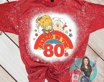 Rainbow Brite Made in the 80's Bleached T-shirt
