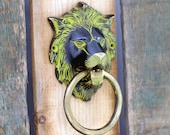 Door knocker - Lion 39 s head - Brass