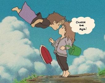 Custom Ghibli Couple Redraw