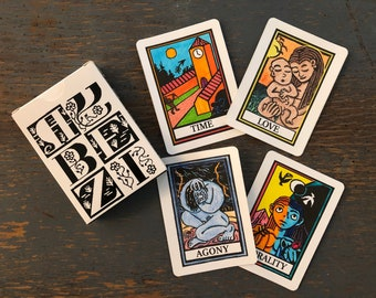 Color-Them-In ABZ Fortune Cards