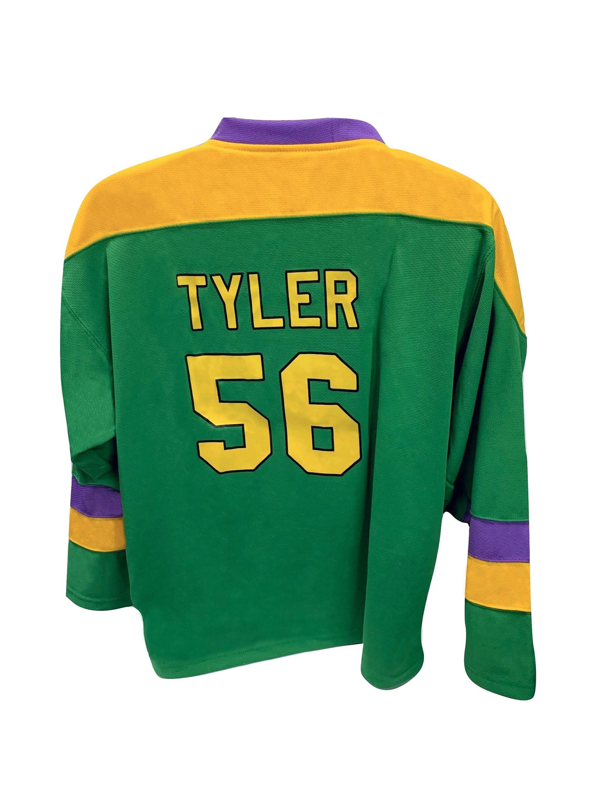 Russ Tyler Hockey Jersey #56 Ducks Movie Knuckle Puck Costume D2 Uniform Shirt Gift Halloween 90s Sweater Sports Group