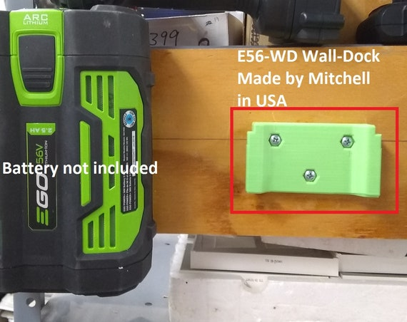 Battery Holder for EGO 56V Lawn Garden Wall Mount Store Batteries USA E56-WD
