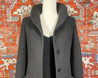 ON SALE! Womens Italian Wool/Cashmere Cocoon Coat / XXS / Aritzia / Minimalist / Wilfred  / Peacoat / Grey / Gray / Classic / Winter / Warm
