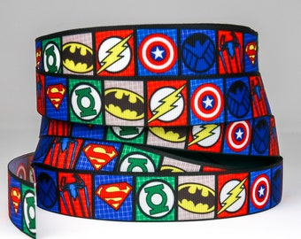1 2 3 METRE METRES BOYS SUPER HERO MARVELS  GROSGRAIN RIBBON 22MM