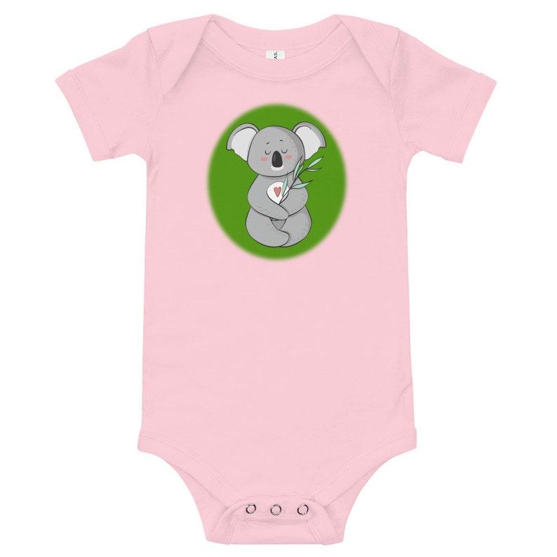Koala Meditation with Heart Baby Bodysuit Gift