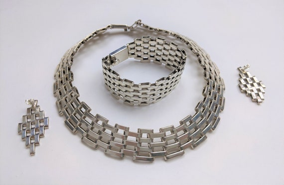 1970s Vintage Taxco sterling silver Chain link set
