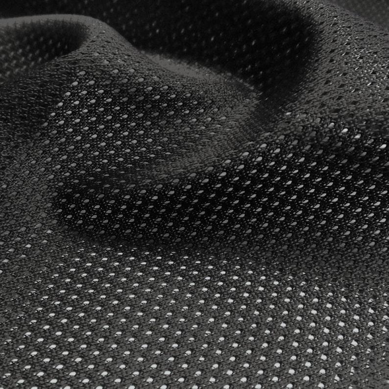 Micro Mesh 105 GSM-Sportswear Basketball Football Black