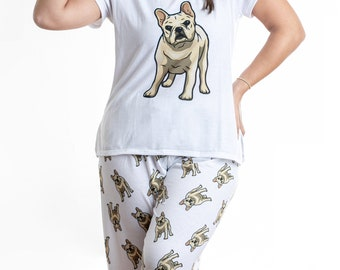 Oversized French Bulldog Nightie I Work Hard So My Frenchie Can Have A Better Life Mothers Day Mum Present Birthday Christmas Pet Present