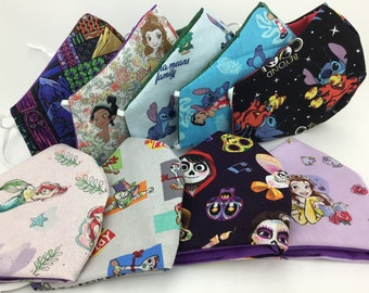 Disney Face Mask Adjustable Coco, Hector, Beauty and The Beast, Lilo & Stitch, Little Mermaid, Toy Story, Woody, Buzz Lightyear