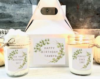Organic Spa Gift Set, Birthday Spa Gift Box, Personalized Gift Birthday, Birthday Gift for Her, Sugar Scrub Gift, Friend Birthday Gift