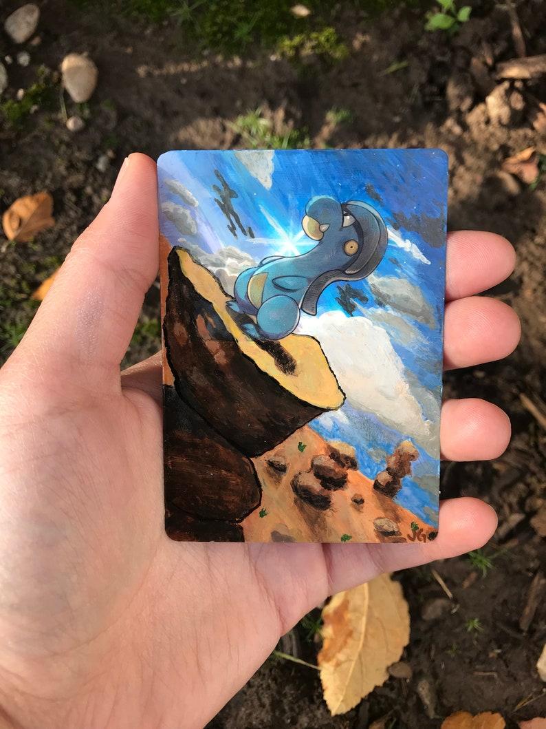 Bagon painted Pok\u00e9mon card