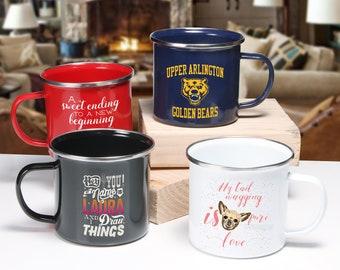 enamel mug custom
