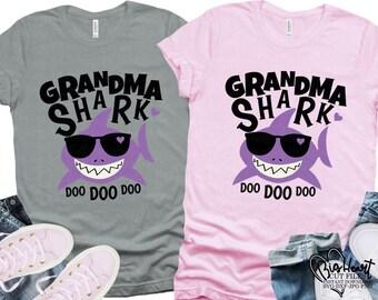 Grandma Shark Svg Etsy