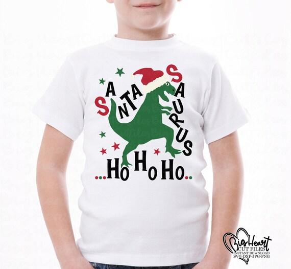 Santa Dinosaur Svgchristmas Dinosaur Svgsanta Saurus Etsy