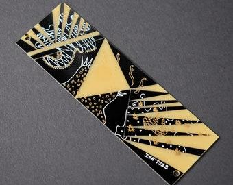 8HP Eurorack Blank Panel Featuring Artwork. 3U, Black & Gold Modular Blind Panel, PCB Art, Eurorack Accessories, PCB Art