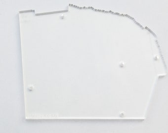 Laser-cut clear acrylic base for Isn'tses 'Fort Processor' synth