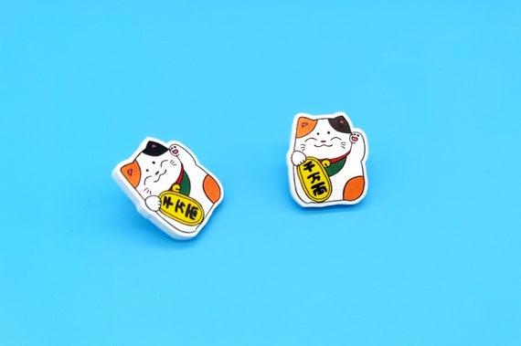 Cute Lucky Cat Earrings