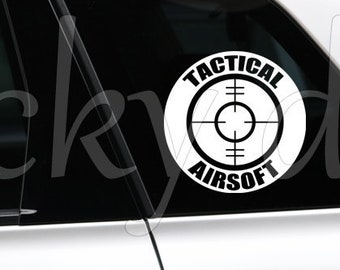Tactical Airsoft Scope target sticker