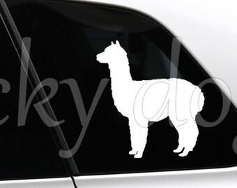 Alpaca silhouette sticker