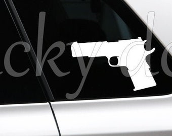 Airsoft 1911 replica weapon drawing, pistol sticker