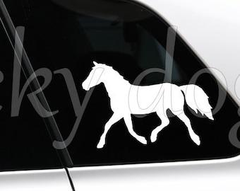 Haflinger in trot horse silhouette sticker