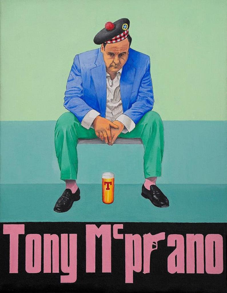 Tony Soprano  Signed Giclee Print  Scottish Art image 0