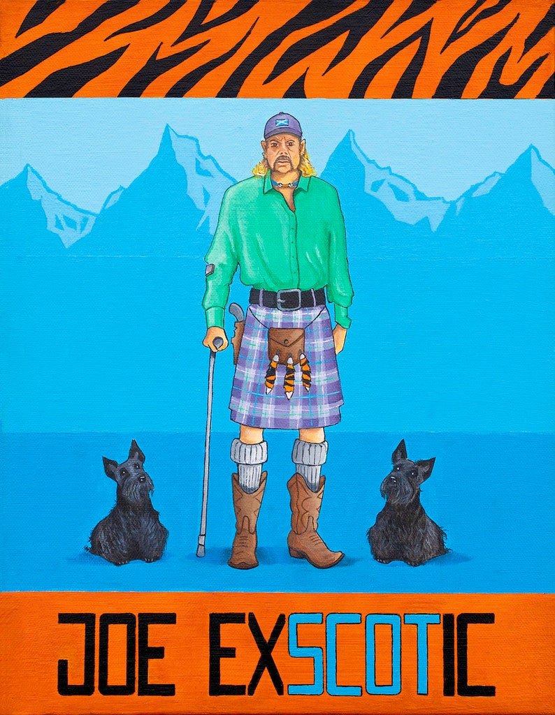 Joe Exscotic  Signed Giclee Print  Scottish Art image 0