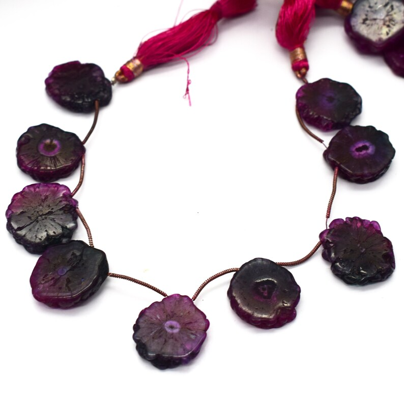 1 St Awesome Pink Druzzy Briolettes-Assorted Shape Beads,Agate Druzzy Jewelry Making-Side Drilled  Beads 18mmx24mm-20mmx22mm 8 Inches SB263