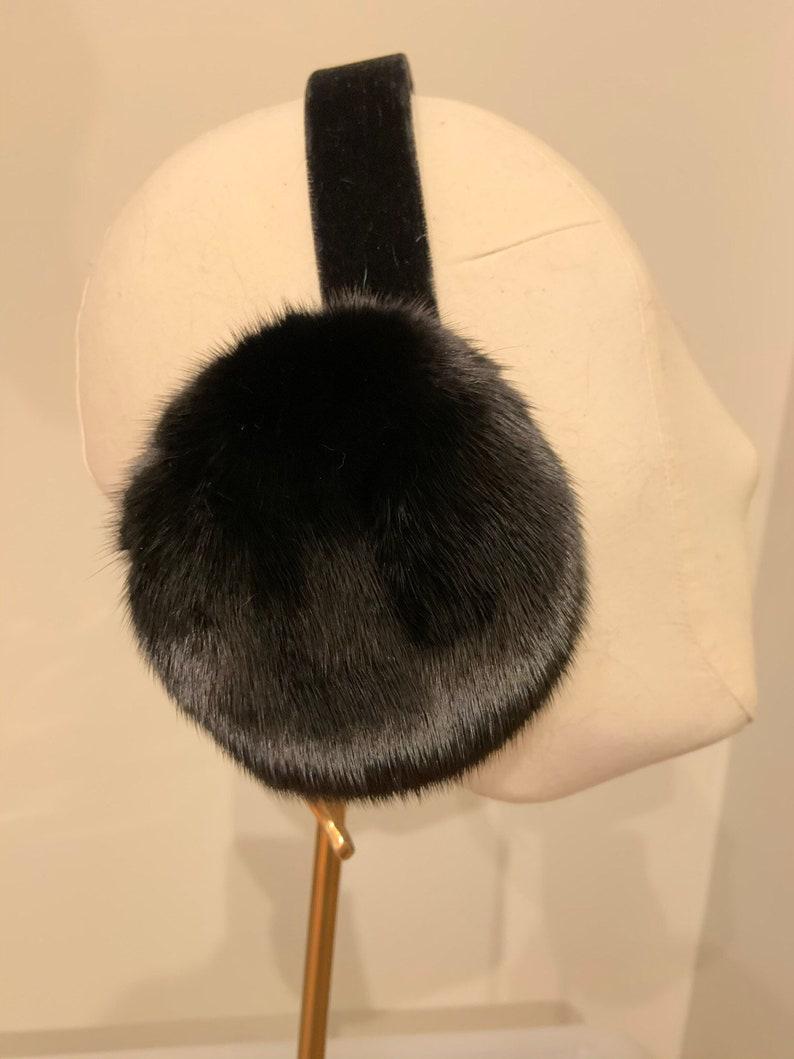 100/% Real Mink Fur Earmuffs