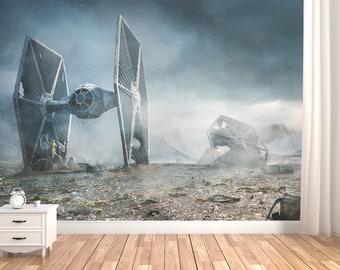 Dom I Meble Star Wars At At Attack Wall Art Wall Mural Self Adhesive Vinyl Decal Wallpaper Naklejki Scienne I Fototapety