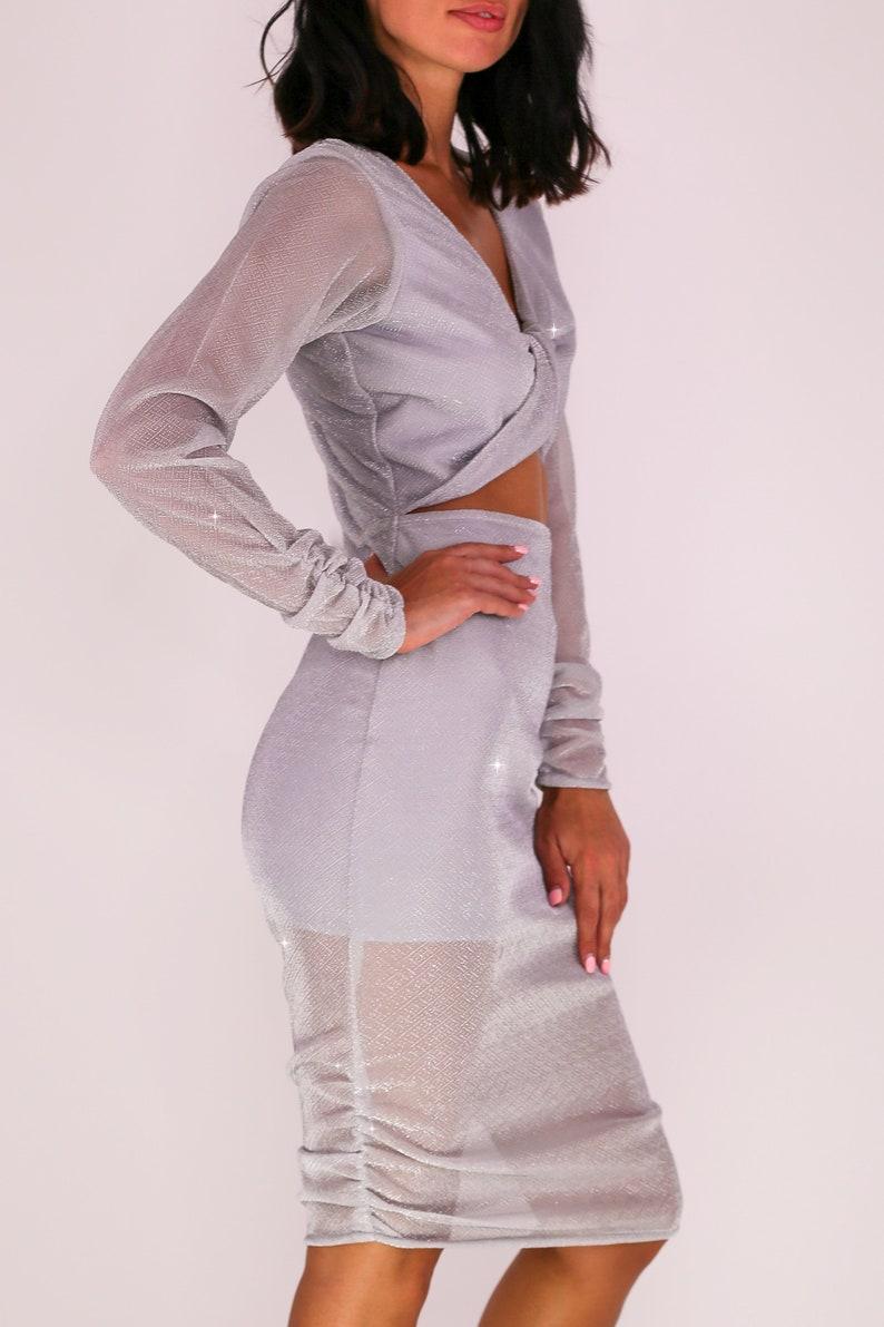 Ciara off the shoulder straps stretch blush mini dress