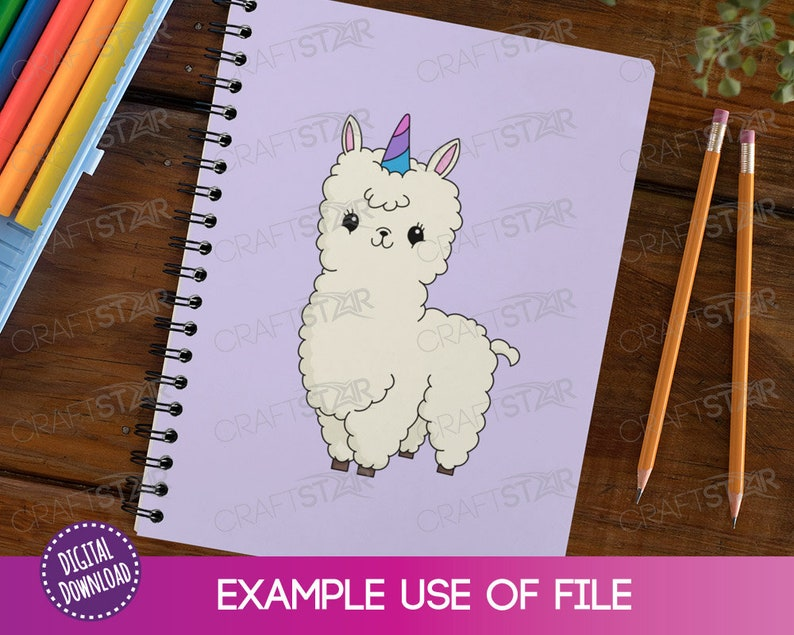 Stickers and Sublimation Llamacorn Printable Llama Unicorn clipart for Crafts Llamacorn SVG File Commercial Use Allowed