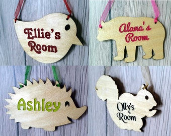 Personalized Sign,Kids Name Baby Nursery Wall Decor Kids Door Sign MUPIANLX Personalized Hedgehog Sign /& Customized Gift for Baby 10 x 5 Wood Sign