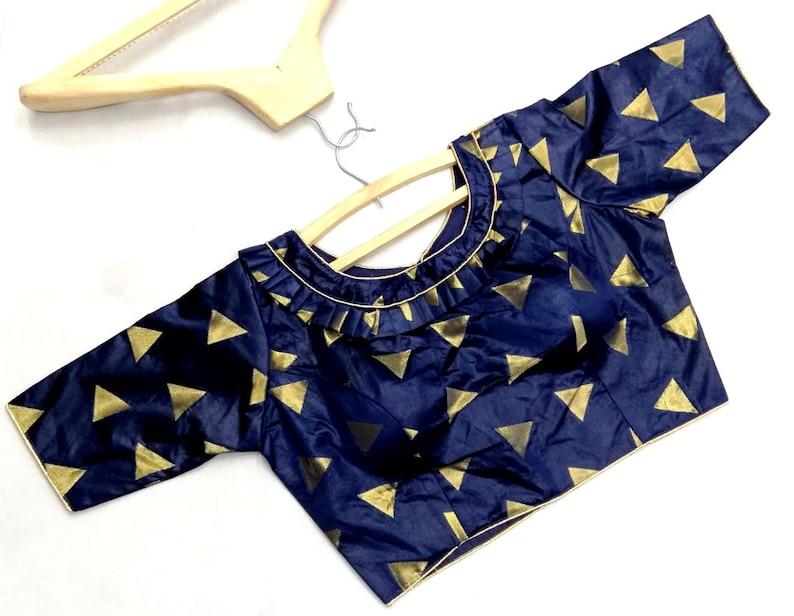 Gray Art Silk Readymade Blouse Choli Top Tunic SariBlouse For Women Wear,Party Wear,Wedding Wear,Festive Wear,Indian Designer Blouse