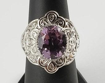 Handmade Rose Liliac Brazilian Pink Amethyst Faceted Pear Briolette Gemstone Sterling Silver Earrings