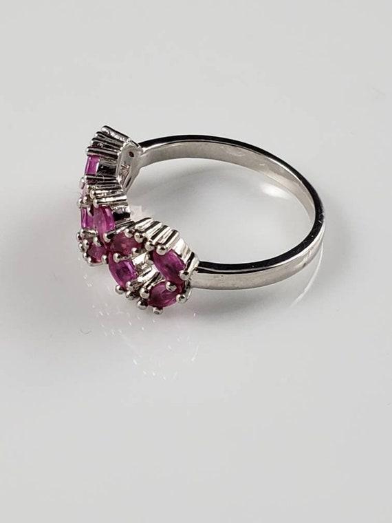 Ruby Latticework Sterling Silver Ring - image 4