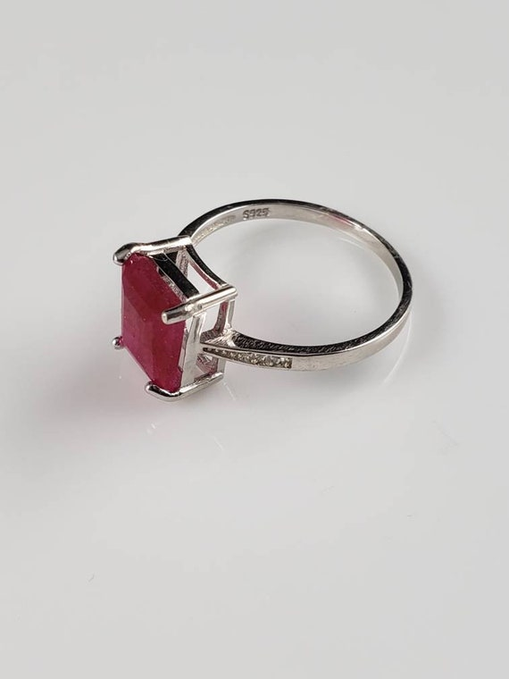1.15 ctw Ruby & Sapphire Sterling Silver Ring - image 4