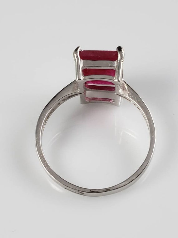 1.15 ctw Ruby & Sapphire Sterling Silver Ring - image 5