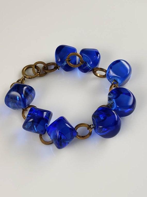 Victorian Cobalt Blue Pools Of Light Bracelet