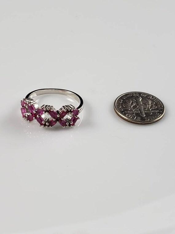 Ruby Latticework Sterling Silver Ring - image 6