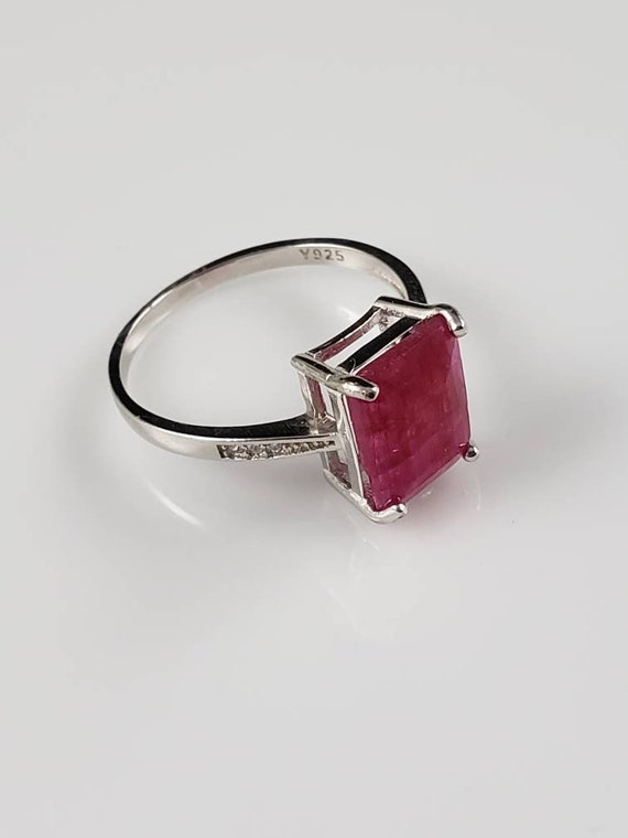 1.15 ctw Ruby & Sapphire Sterling Silver Ring - image 3