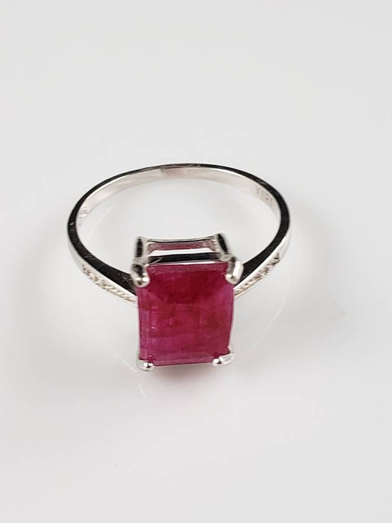 1.15 ctw Ruby & Sapphire Sterling Silver Ring - image 2