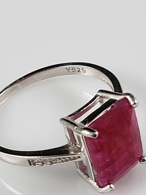 1.15 ctw Ruby & Sapphire Sterling Silver Ring - image 6