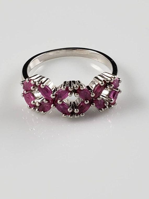Ruby Latticework Sterling Silver Ring - image 1