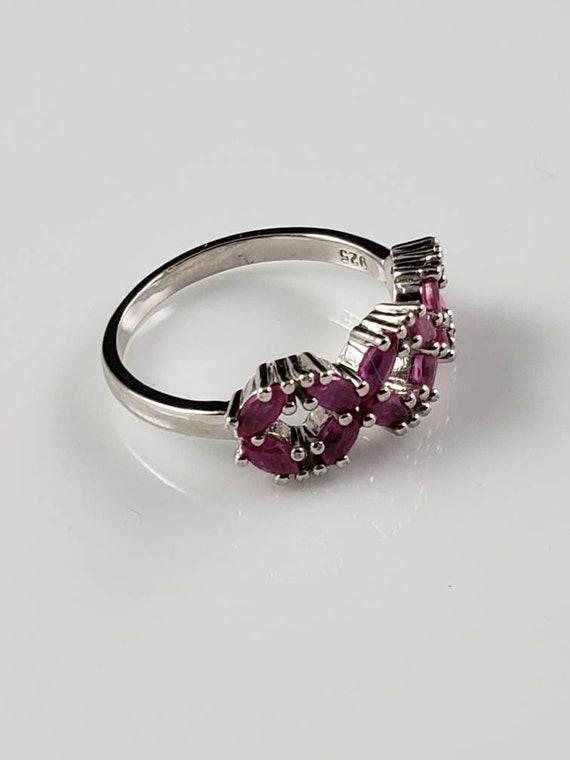 Ruby Latticework Sterling Silver Ring - image 3